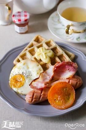 Scotland Breakfast Waffle Recipe 苏格兰早餐格子松饼食谱