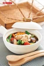 Monkey Head Mushroom in Clay Pot Recipe 猴头菇杂锦煲食谱