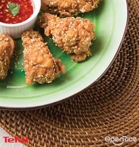 Spicy Sesame Chicken Drummets Recipe 辣味芝麻炸鸡食谱