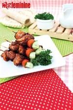Skewed Chicken Recipe 三梅鸡肉串食谱