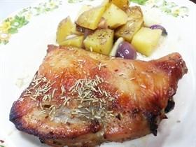 Roasted Chicken Chop with Rosemary Recipe 迷迭香焗鸡扒食谱