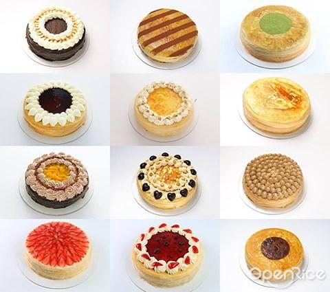 special cake, nadeje, mille crepe, crepe cake, klang valley, pj