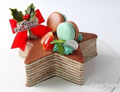 星形蛋糕, 圣诞, starry cake, nadeje, mille crepe, crepe cake, klang valley, pj