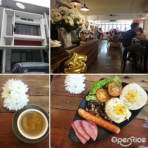 Fishee Coffee Café, Big B, Big Breakfast, Flat White, Coffee, Fishee Ball, Cafes at Bukit Jalil, Aked Esplanad Bukit Jalil, Bukit Jalil, KL