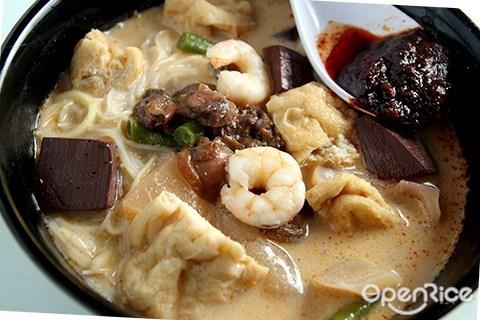 槟城, 关丹律, 咖喱面, 山海, white curry, oug, overseas union garden, 华联花园