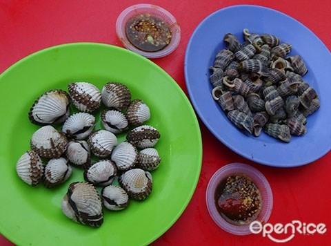 Tong Bee Cockles Stall, melaka, malacca, Cockles