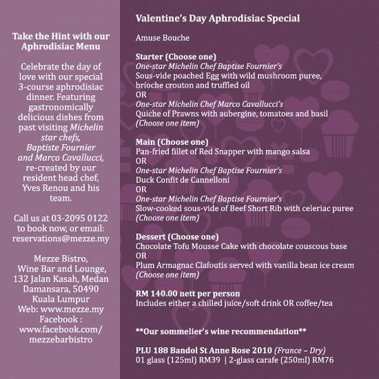 mezze, bistro, bar, valentine, promotion
