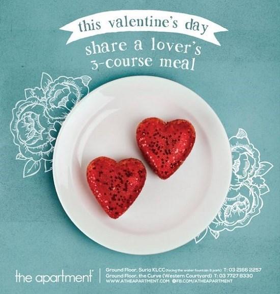 the apartment, restaurant, valentine, promotion