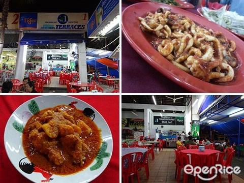 Sea Terrace, Terraces Restaurant, Stall 1, Batu Berendam, 海鲜, Portugese Square, 马六甲