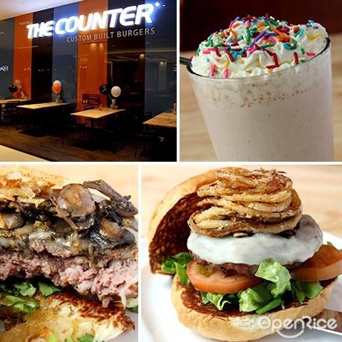 the counter, custom built burger, pavilion kl, dining loft, 7th floor, 汉堡