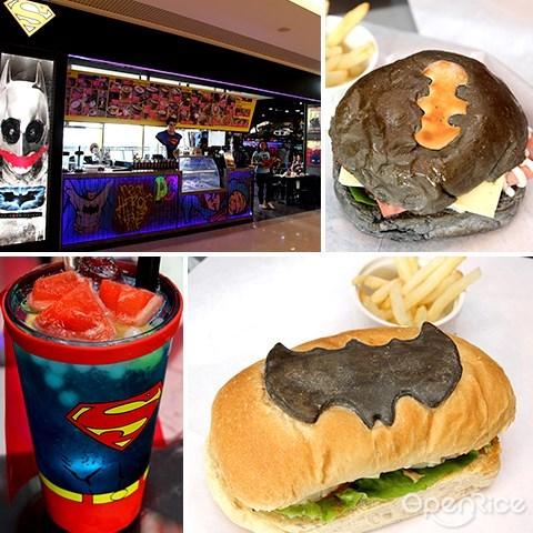 cafe, sunway putra mall, dc comics super heroes, 英雄, 咖啡馆