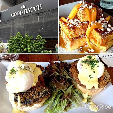 good batch, french toast, cafe, kl