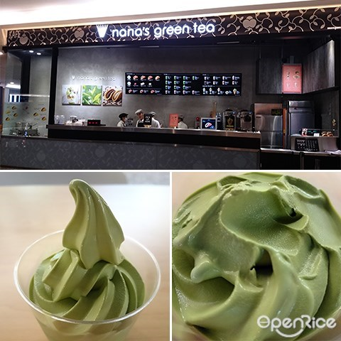 Nana's Green Tea Cafe, Soft serve, Ice cream, Mid Valley