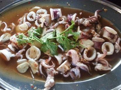 Steamed Octopus