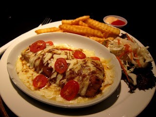 Tomato Cheesy Fish & Chips