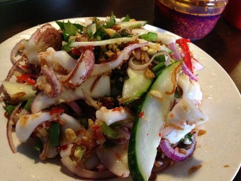 Fresh CuttleFish Cucumber Salad